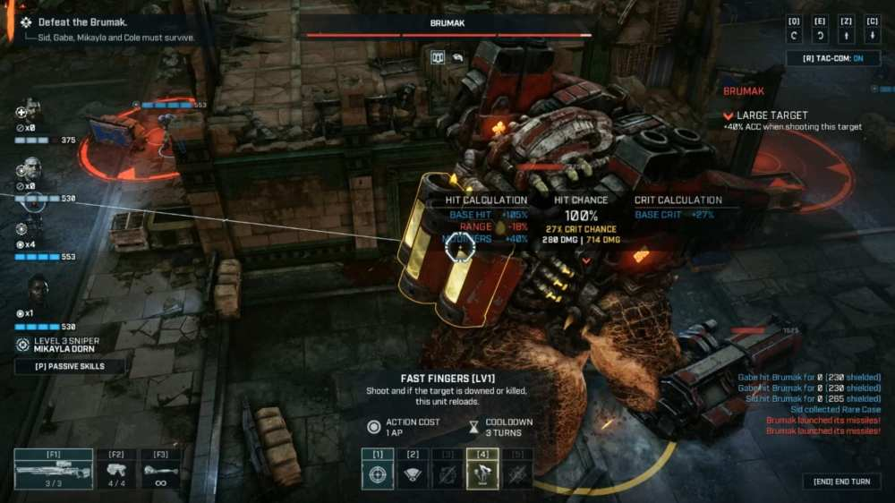 Gears Tactics Brumak boss fight