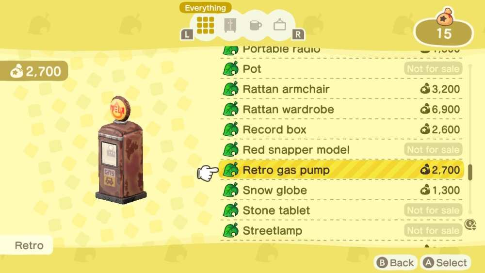 using the catalog in animal crossing new horizons