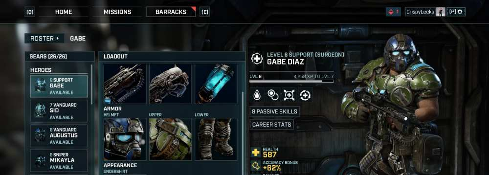 customize character appearance gears tactics