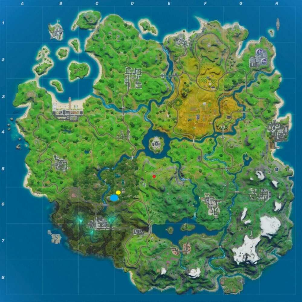 campfire apple mushroom fortnite map