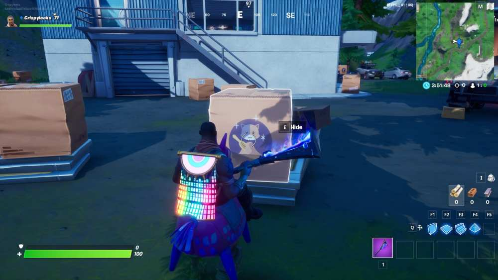 Creepin' Cardboard at Box Factory in Fortnite