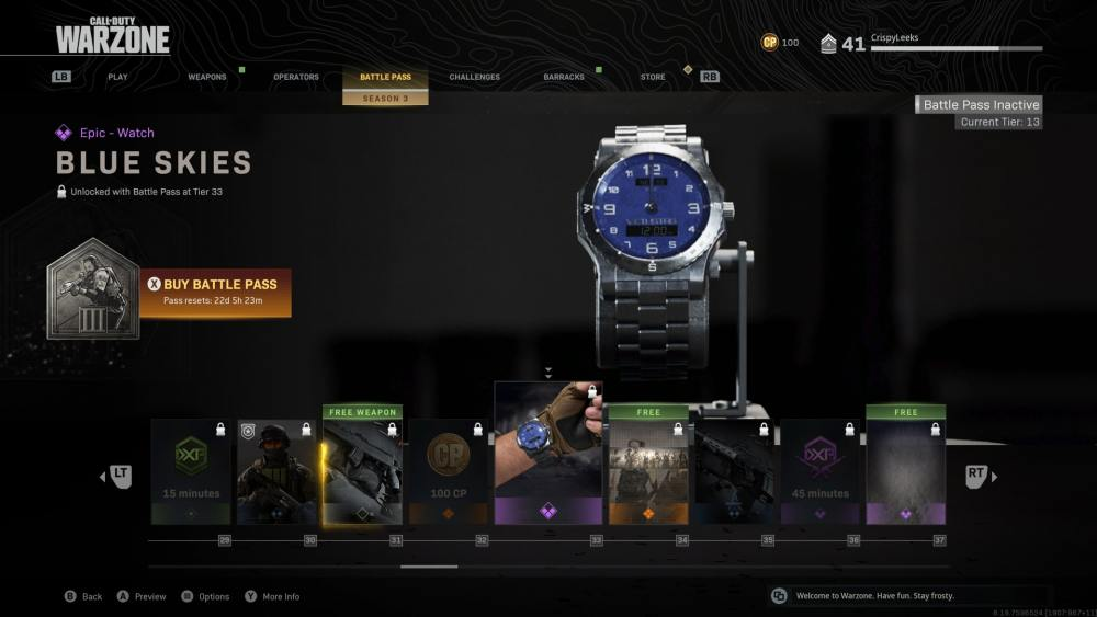 how to get a watch in warzone