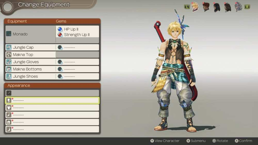 how to change clothes in xenoblade chronicles