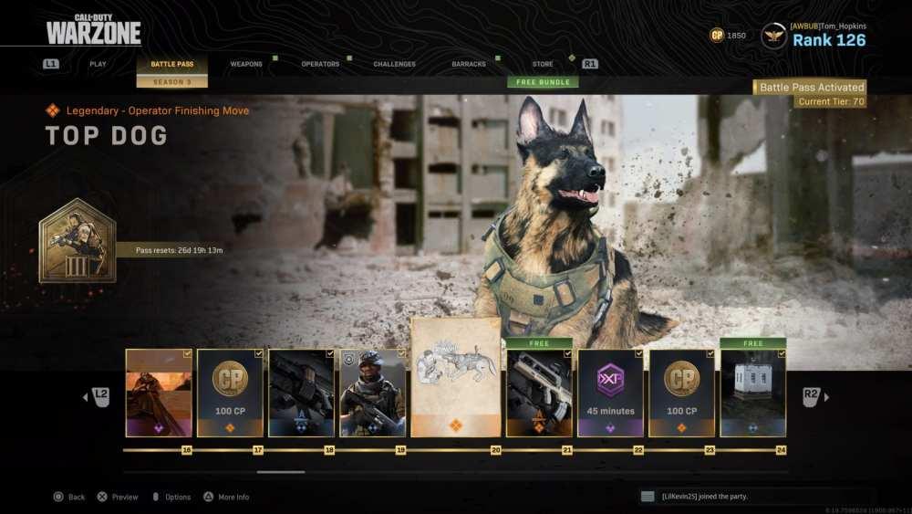 warzone, get dog