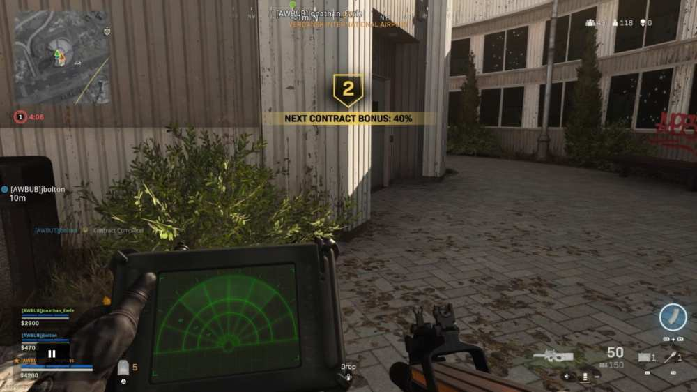 warzone, heartbeat sensor