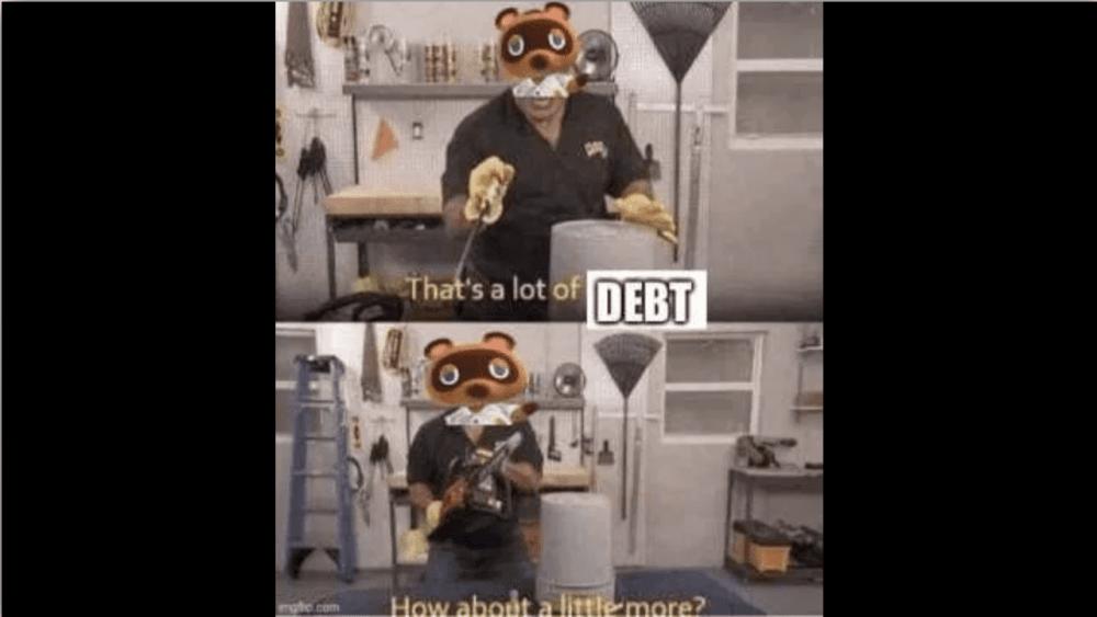 tom nook animal crossing memes