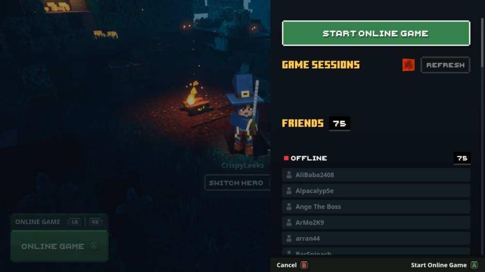 minecraft dungeons co-op multiplayer