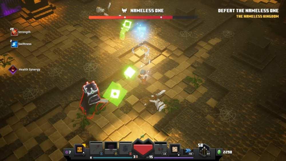 minecraft dungeons nameless one boss fight