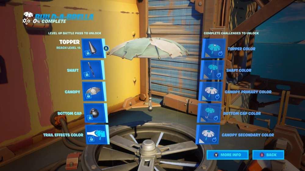 how to make custom umbrella fortnite