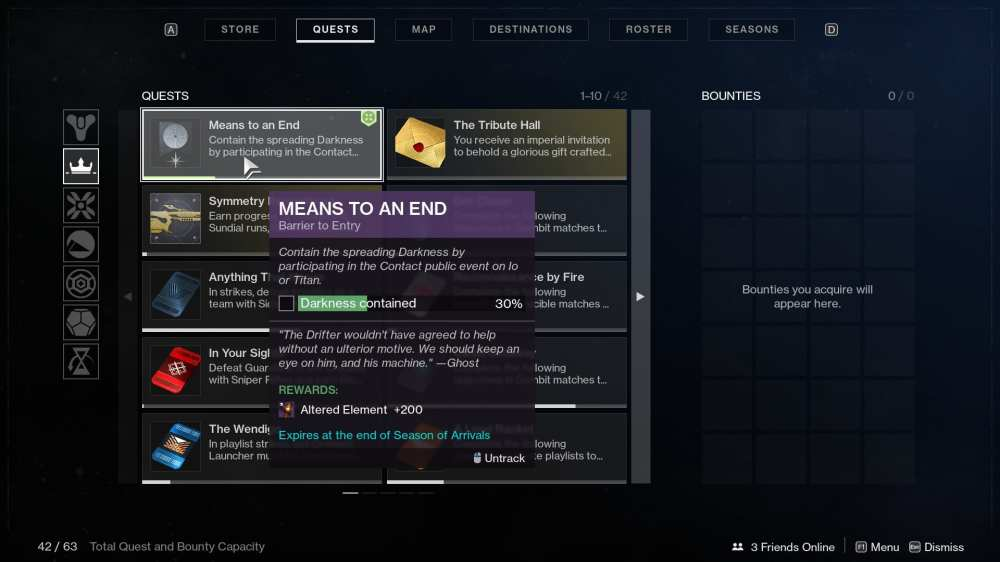 destiny 2 means to an end