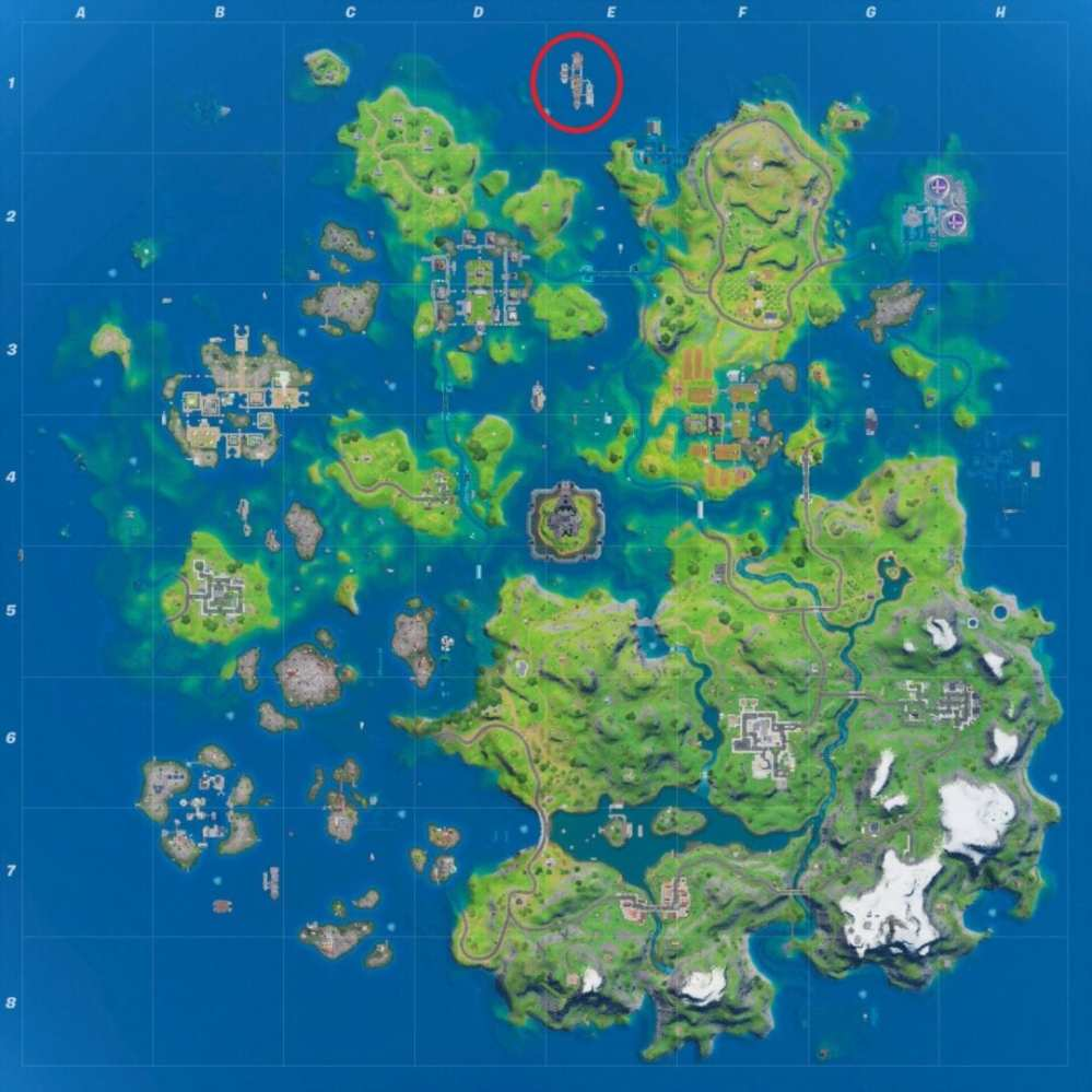 yacht location in fortnite