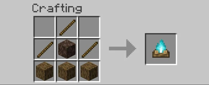 how to make a soul campfire in Minecraft