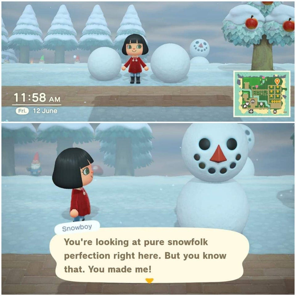 animal crossing new horizons snowboy