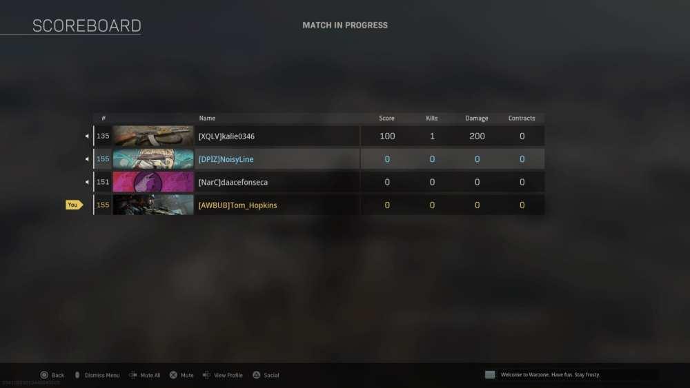 warzone, unmute teammates