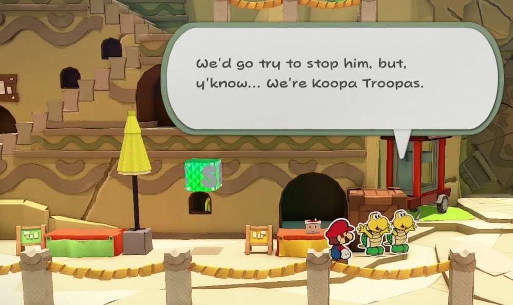 how to save in Paper Mario origami king