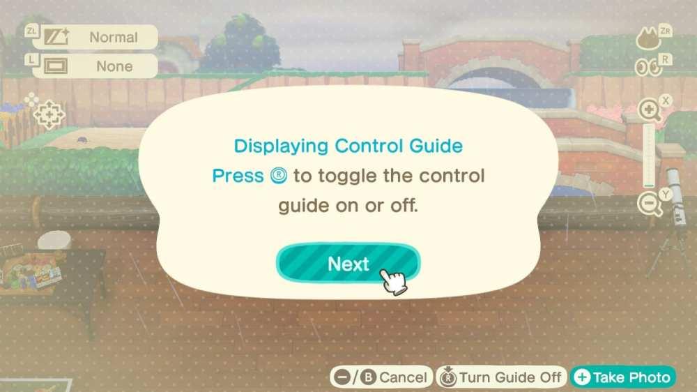 camera ui, animal crossing