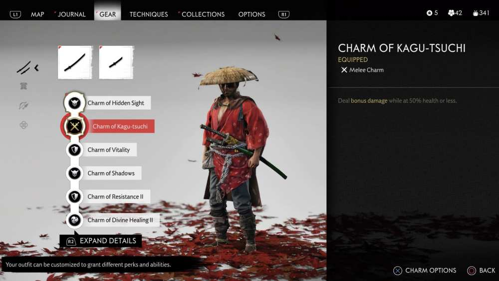 ghost of tsushima charms