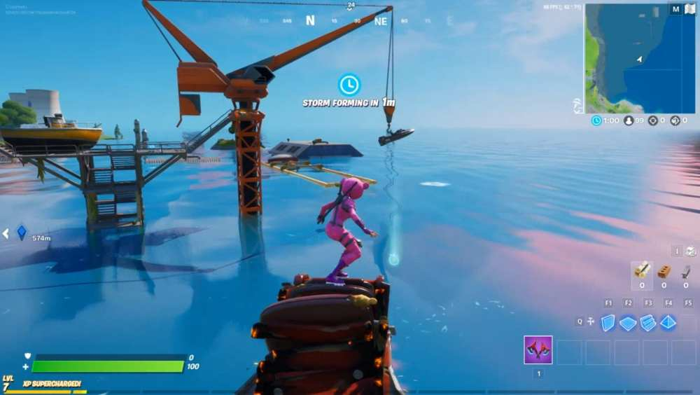 Fortnite dirty docks swimming time trial