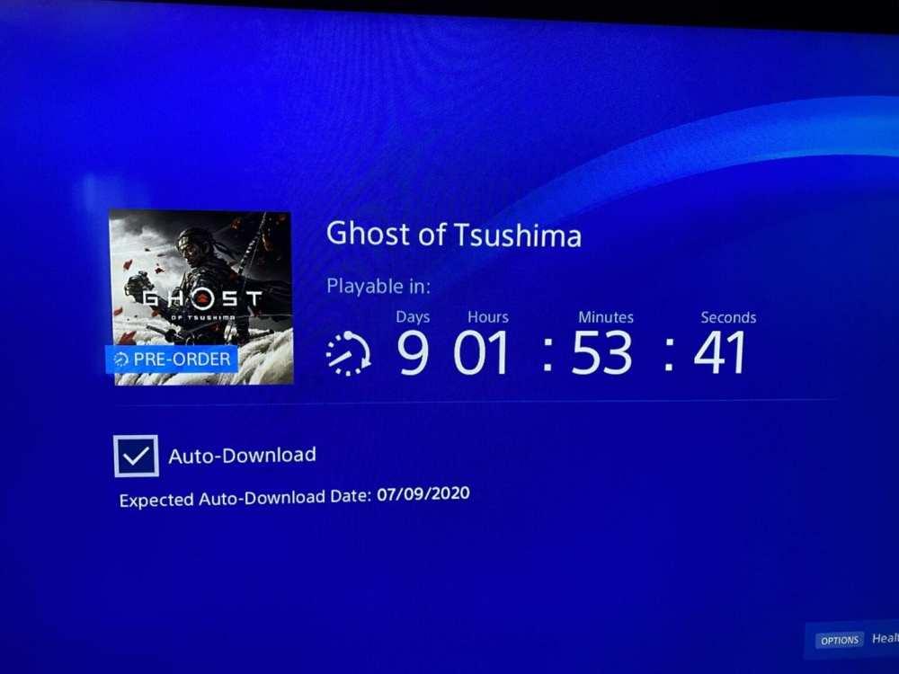 ghost of tsushima preload