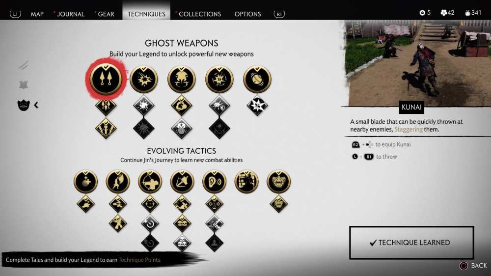 ghost weapons ghost of tsushima