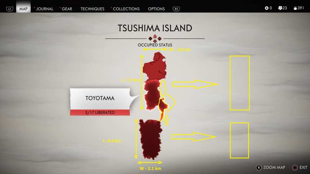 Here's How Big Ghost of Tsushima's Map Is (Measured)