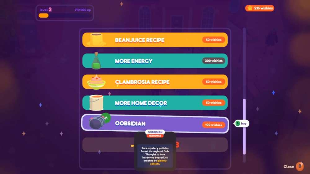 how to get oobsidian in ooblets