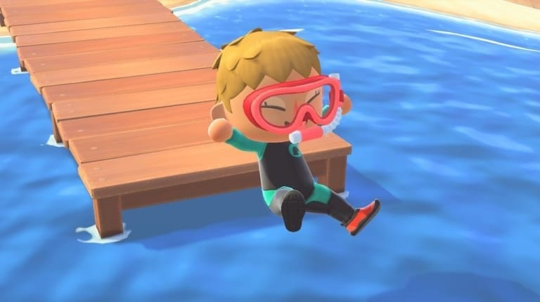 wetsuit, animal crossing new horizons, fish and bugs leaving in august