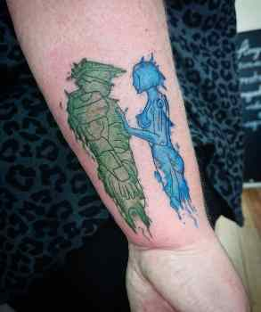 best halo tattoos