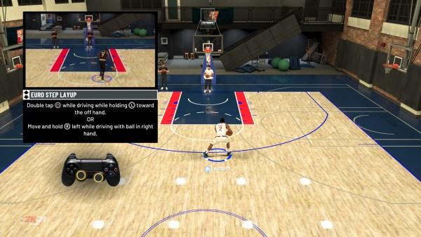 NBA 2K21 Euro step