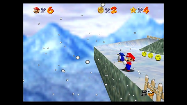 super mario 64, penguin