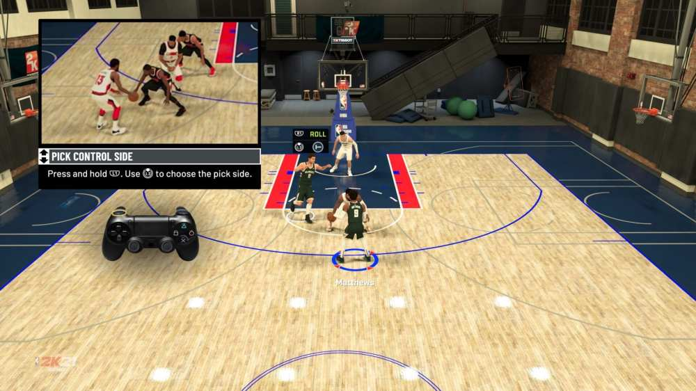 NBA 2k21 pick and roll