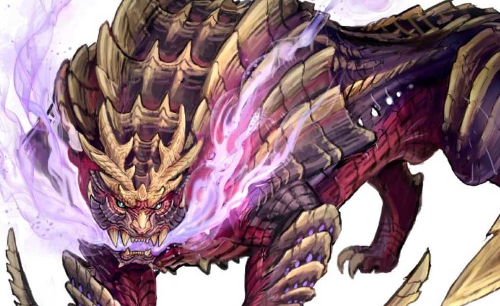 New Monster Hunter Rise Concept Art Shows off Flagship Monster, Magnamalo