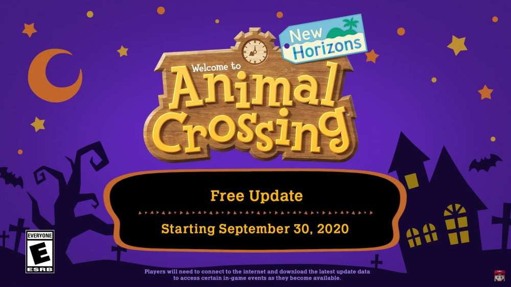 animal crossing new horizons fall update release date