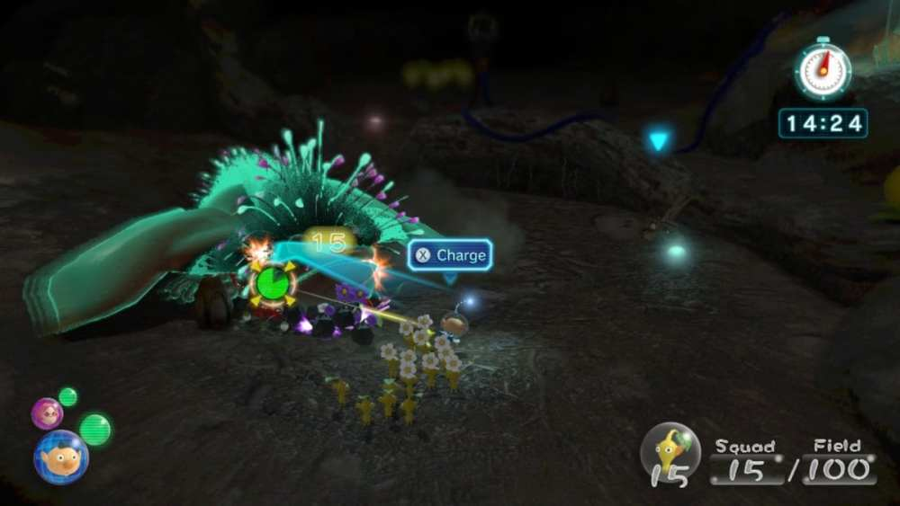 how to charge attack pikmin 3 deluxe