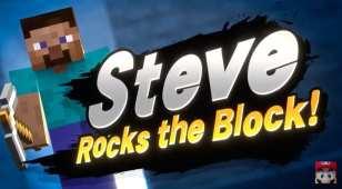 minecraft steve, super smash bros ultimate reveal