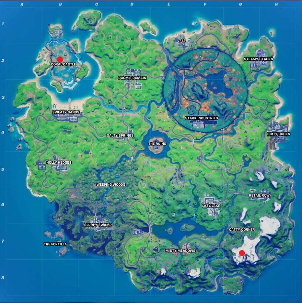 fortnite highest point, fortnite lowest point
