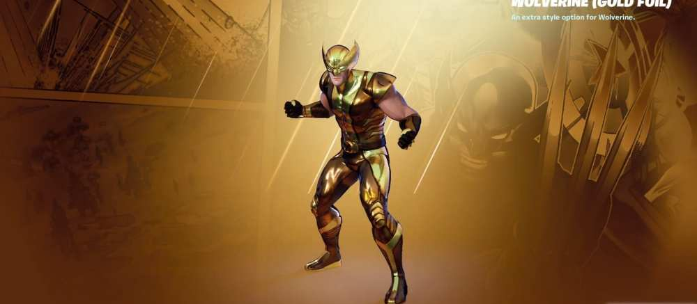 fortnite gold wolverine