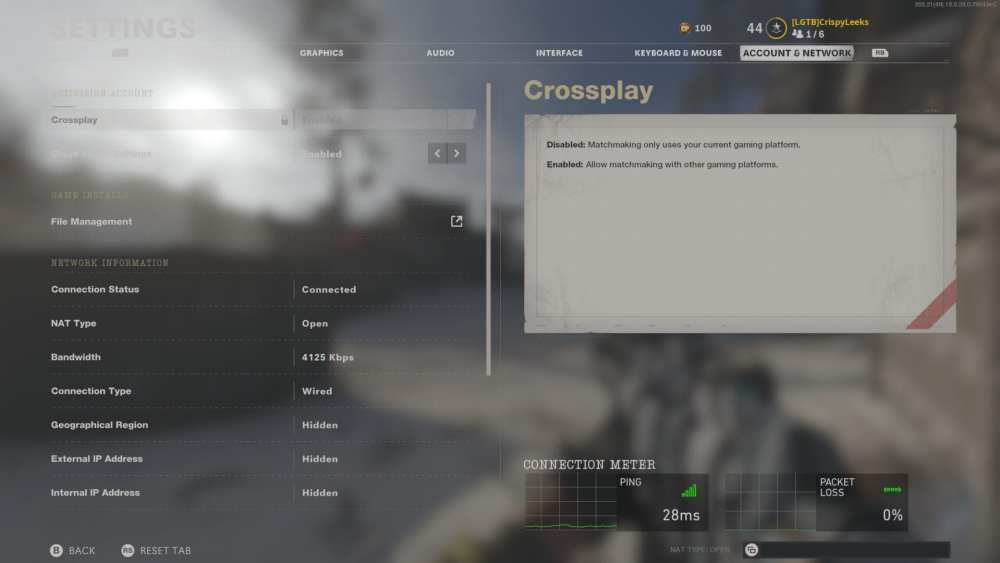 how to check ping black ops cold war