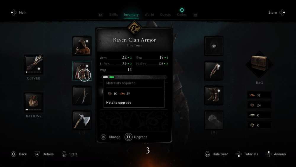 assassin's creed valhalla, change character appearance