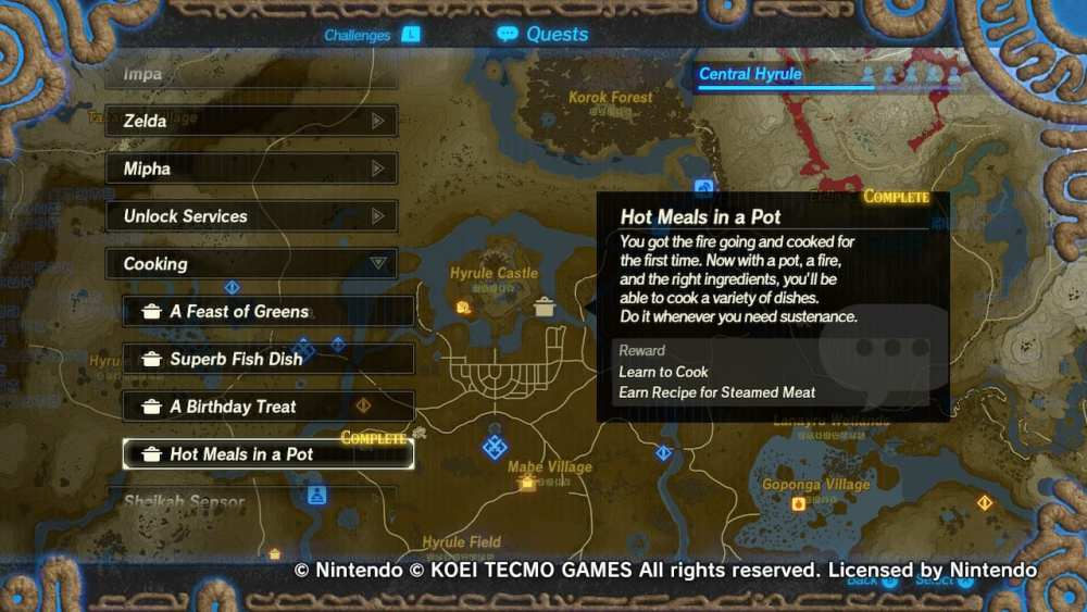 hyrule warriors age of calamity recipes