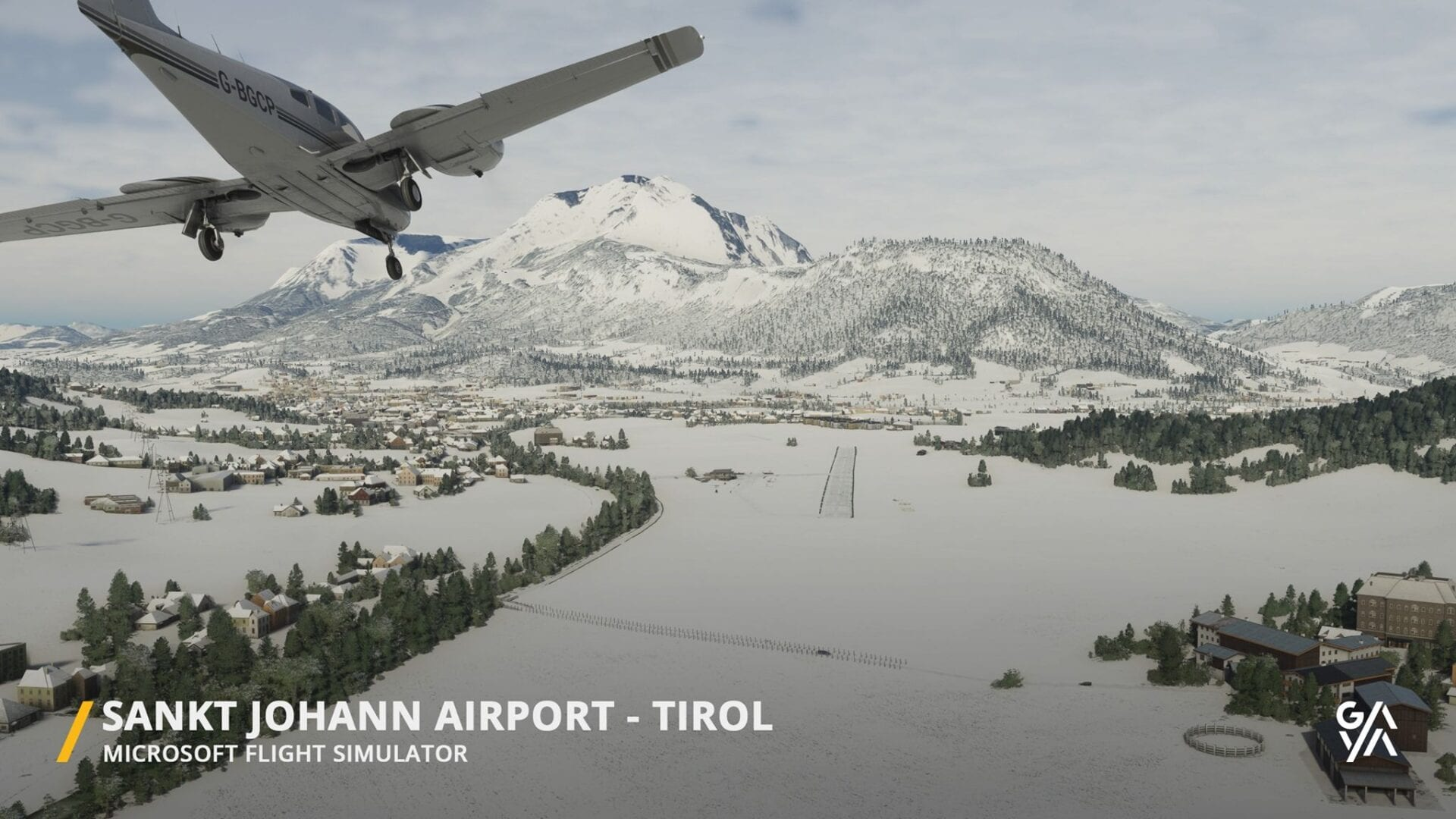 Microsoft Flight Simulator – Sankt Johann Airport Add-On Appears Charmingly Bucolic in New Trailer 1
