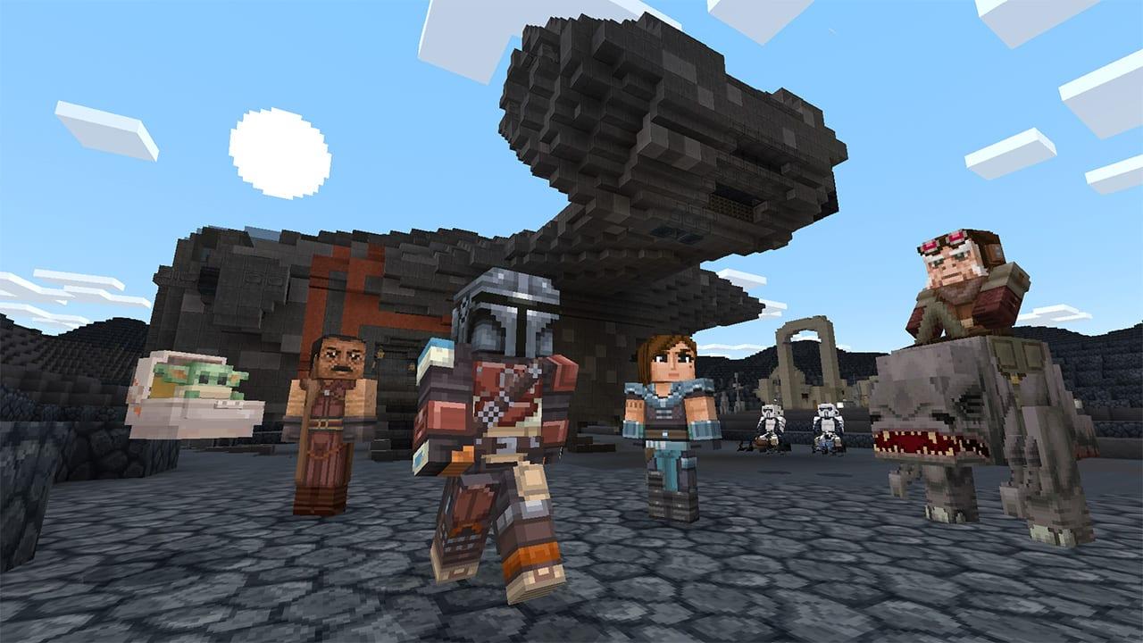 Minecraft Star Wars DLC Provides Child Yoda and The Mandalorian 1