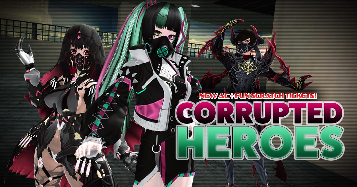 Phantasy Star On-line 2 Presents Corrupted Heroes AC Scratch Assortment 1