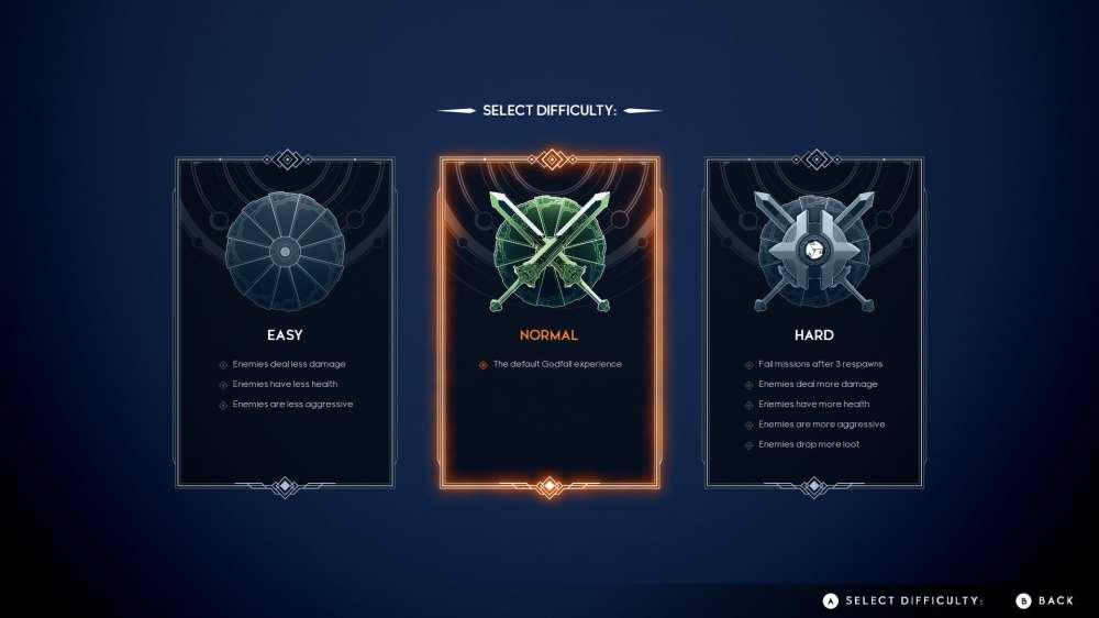 godfall change difficulty