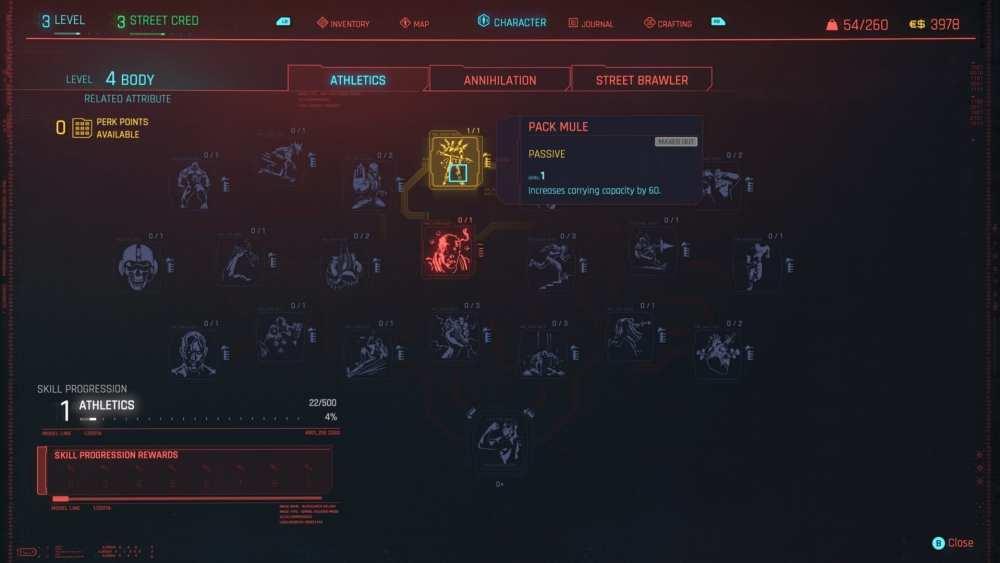 increase carry capacity cyberpunk 2077