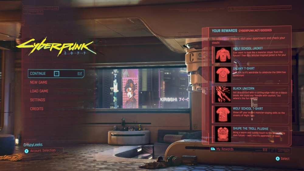 cyberpunk 2077 gog account rewards, cyberpunk link gog account
