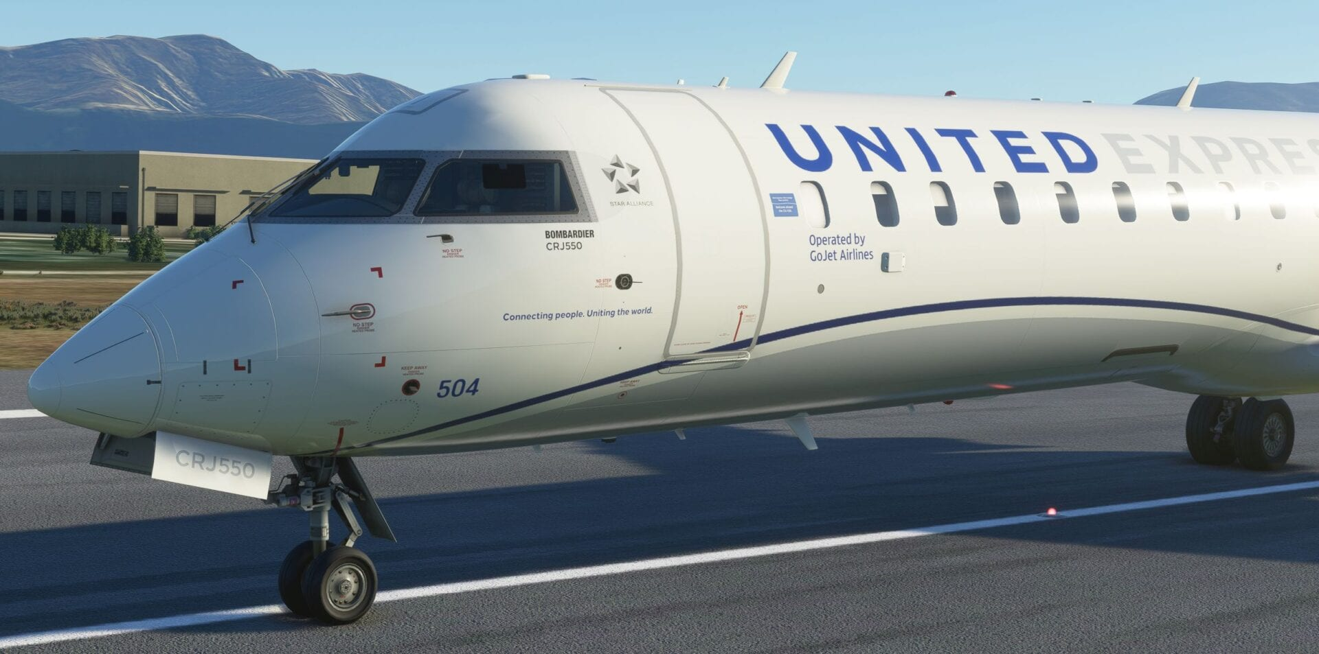 Microsoft Flight Simulator's CRJ Add-On Will get Superior Screenshots Displaying United 550, EFB, and Extra 1