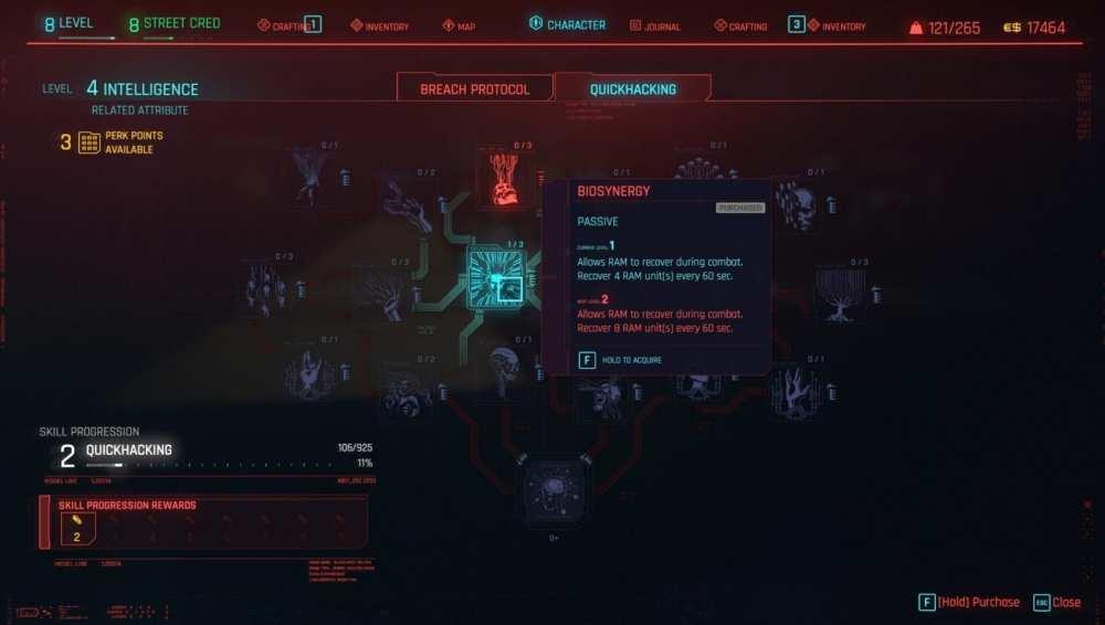 cyberpunk 2077 restore ram