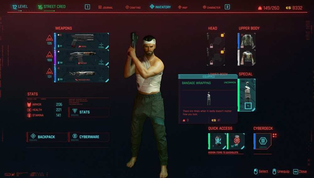 cyberpunk 2077 special outfits