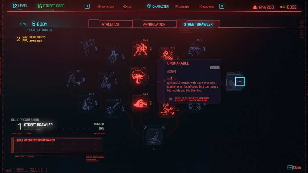 cyberpunk 2077 best perks